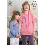King Cole Girls Smooth DK Cardigan and Top Pattern 3348 56-76cm