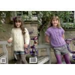 Aran - Girls' Tunic and Top Pattern 3664