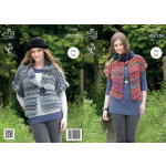 King Cole Ladies' Waistcat and Jacket Pattern 3780 7 years to adult