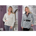 Popsicle - Ladies' Sweater and Cardigan Pattern 3888