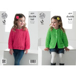 KC DK - Girls' Lace Cardigan and Sweater 4219