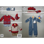 Baby Chunky Outdoor Suit - Hat - Jacket and Top Pattern 4223