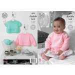 Baby Sweaters and Hat Pattern 4395
