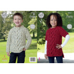 Childs chunky Sweater and Tunic Pattern 61-81cm 4420