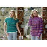 King Cole Corona Chunky Sweater and Top Pattern 4662