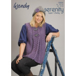 Ladies Serenity Super Chunky Flared Waistcoat and Hat Pattern 5582