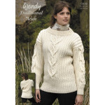 Wendy Aran Interlace Cable Sweater Pattern 5639 (76-112 cm)