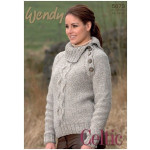 Wendy Unisex Cable Sweaters & Hat Pattern 5673