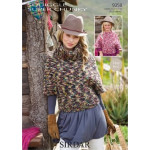 Sirdar Squiggle Super Chunky Ladies and Girls sweaters Pattern 9358