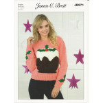 Ladies' DK Christmas Pudding Sweater Pattern - JB271