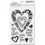 Stampendous - Perfectly Clear Stamps - Bold Heart