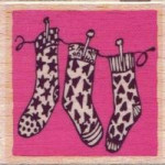 Dovecraft-Wooden Stamp-Holiday Stockings