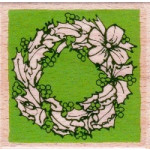 Vap Scrap - Wooden Stamp - Wreath