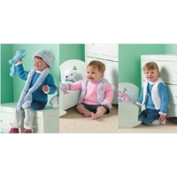 """Baby/Child Sprinkles Sweater, Gilet, Hat and Scarf Pattern 2880 16"""" - 24"""""""