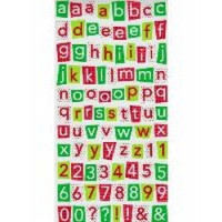 Doodlebug - Cardstock Stickers - Cheerfully Christmas