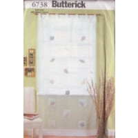 Butterick Pattern - Tab Top Curtains - One Size - 6738