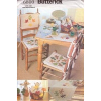 Butterick Pattern - Autumn Table Top with Leaf Appliques - One Size - 6800