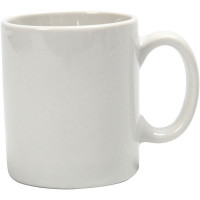 Porcelain Mug for Decorating, White, H7 x D6 cm (55596) Box of 6