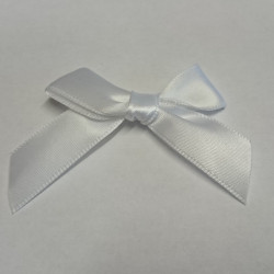 Pre-Made Bows - Scatter Bows - 15mm White (Pack of 2)