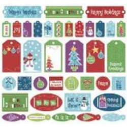 Signature Collection - 12x12 - Cardstock Stickers - Holiday Cheer
