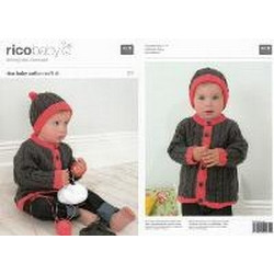 Rico Knitting Idea Compact Pattern 173 - Cardigan and Hat 41-61cm