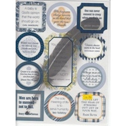 ChatterBox - transparency quotes - denim/sky
