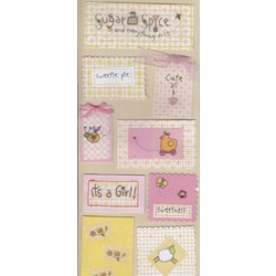 Colorbok - Sue Dreamer - Layered Sentiments - It's a girl!