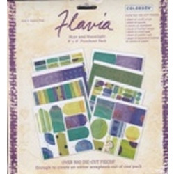 "Colorbok - Flavia - 8"" x 8"" Punch Out Pad - Mint and Moonlight"