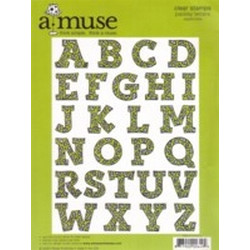 A Muse Clear Stamps - Uppercase Paisley Letters