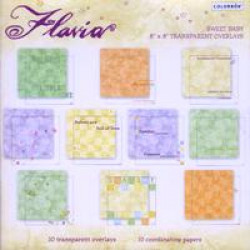"Colorbok - Flavia - 8"" x 8"" Transparent Overlays - Sweet Baby"
