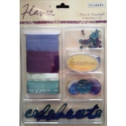 Colorbok - Flavia Embellishment Set - Mint and Moonlight