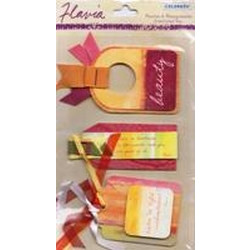 Colorbok - Flavia - Peaches and pomegranates Tags