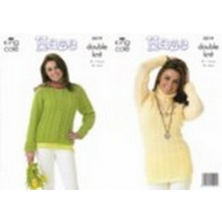 Haze Dk Ladies Cardigan and Sweater Pattern 3219 (81-112cm) - D