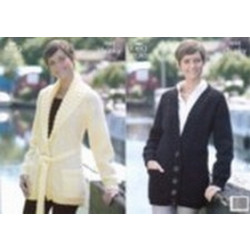 """King Cole Ladies Big Value Chunky Jackets Pattern 3253 32"""" - 44"""" ( 81 - 112 cm)"""