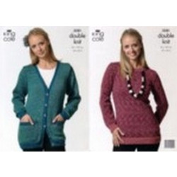 Moods DK Ladies Jacket and Sweater Pattern 3281 - D