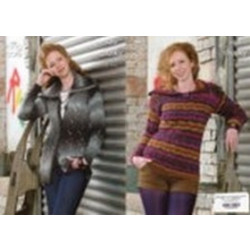 """King Cole Riot Chunky Ladies Sweater and Coat Pattern 3370 36""""-46"""" (91-117 cm)"""