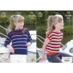 King Cole Girl's DK Sweater and Top Pattern 3427 (3-13 years)