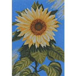 Lanarte Home and Garden Collection Sunflower on Blue Cross Stitch Kit 35045