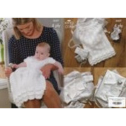 King Cole Baby 4 Ply Christening Set 3537 36-46cm (14-18in)