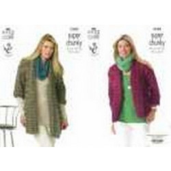 """King Cole Super Chunky - Ladies Jackets 3580 (81-107cm- 32-42"""")"""