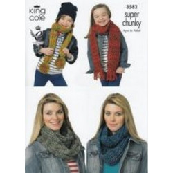 King Cole Super Chunky - 3582 Scarves & Snoods (Ages 4 to Adult)