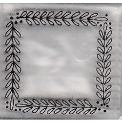 Provo Craft - Clear Stamp Block - Leaf Frame