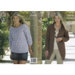 King Cole Chunky - 3623 Ladies Coat & Sweater 81-112cm (32-44ins)
