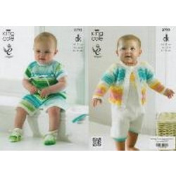 King Cole DK - Baby Set Pattern 3792 (0 to 12 months) - D