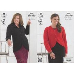 - Chunky Jackets Pattern 3835 - 71 to 127cm (28 to 50ins)
