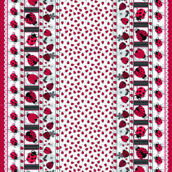 Twilley's Of Stamford - Ladybirds Band Fabric - sold by the metre