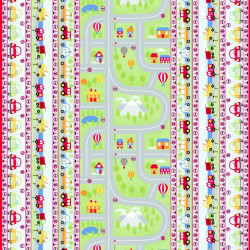 Twilley's Of Stamford - Vehicles Band Fabric - sold by the metre
