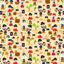 Twilley's Of Stamford - Pirates Fabric - sold by the metre