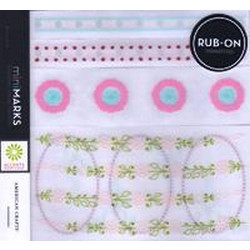 American Crafts MiniMARKS Rub-On Transfers - 43206 Accents Book Four