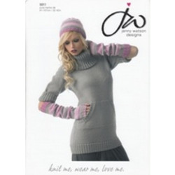 "Sweater - fingerless gloves and hat DK Pattern 5011 32"" - 42"" (81-107cm)"